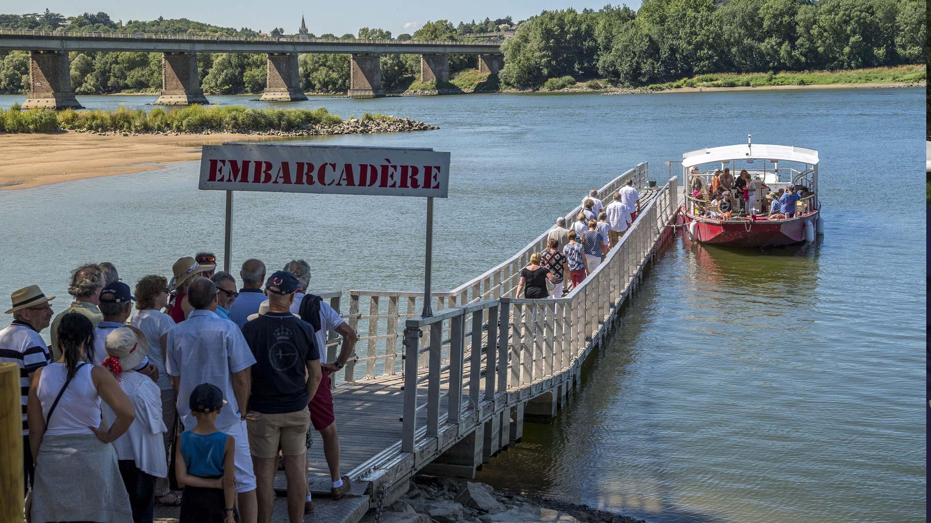 Embarquement croisière en Loire